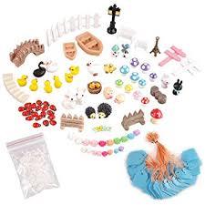 ezakka miniature ornaments kit set with tweezer for