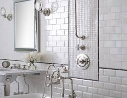 bathroom floor tile ideas chromed stainless steel faucet cream