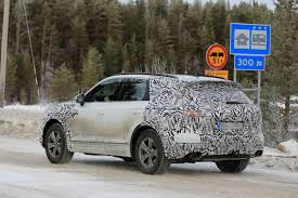 volkswagen winter less disguised 2018 volkswagen touareg spied during winter testing