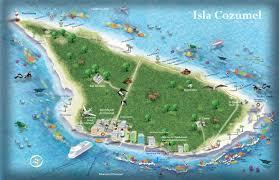 Map Of Riviera Maya Mexico by Cozumel Tourist Map