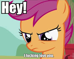 I Fucking Love You Memes - scootaloo fucking loves you my little pony friendship is magic