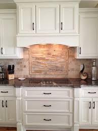 kitchen backsplashes with granite countertops custom kitchen cabinetry travertine and ledger backsplash