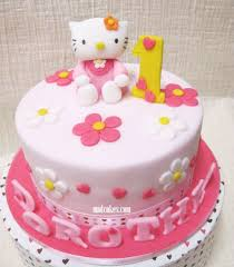 hello kitty 1st birthday cake design birthday cake cake ideas by