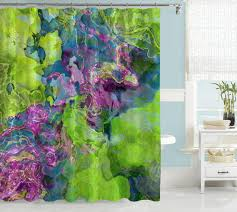 Shower Curtains Purple Contemporary Shower Curtain Purple Blue Green Green Blue