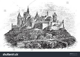 stuttgart church hohenzollern castle burg hohenzollern stuttgart germany stock