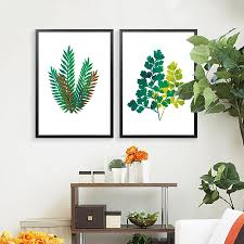 plant for bedroom nature green plant leafs cactus art canvas painting poster