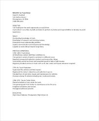 Commercial Truck Driver Resume Sample Resume For Truck Driver Resume Templates
