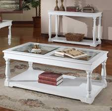 white wood coffee table white and wood coffee table with tempered glass top home interior