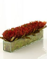 Faux Floral Centerpieces by John Richard Collection Blazing Protea Faux Floral Arrangement