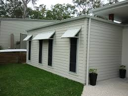 Aluminium Window Awnings Colorbond Welded Full Frame Awnings Caloundra Awnings