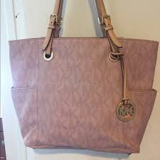 light pink michael kors handbag michael kors bags light pink logo bag poshmark