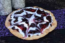 Halloween Booberry Spider Web Dessert Pizza U2013 Eat Well