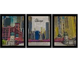 chicago home decor chicago decor etsy