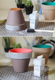 Planters Diy by Painted Planters The Crafted Life