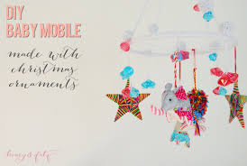 diy baby mobile using ornaments