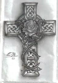 celtic cross with roses entwined search tattoos