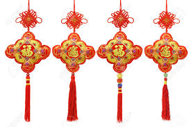 collection of new year traditional ornaments on white