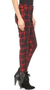 Scotch Plaid Maison Scotch Plaid Pants Black Red In Red Lyst