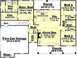 1500 square foot ranch house plans 1500 square feet 3 bedrooms 2 batrooms 2 parking space on 2