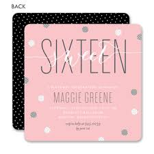 sweet 16 invitations birthday invitations