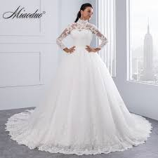 wedding dress high aliexpress buy miaoduo vestido de noiva high neck iiiusion