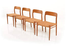 4 Dining Chairs Terrific Set Of 4 Dining Chairs By Niels O Møller At Ilashome
