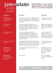 Vp Of Marketing Resume This Excellent Resume Design Uses The Principles Of Contrast