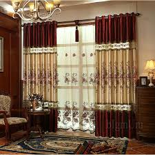 Custom Blackout Drapes 2017 Embroidered Pastoral Curtain Blackout Curtains For Living