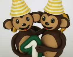 monkey cake topper spiritmama and soul monkeys birthday cake topper