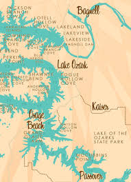 cove lake of the ozarks map lake of the ozarks mo map print with mile markers lakebound