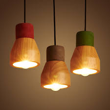 Wooden Light Fixtures Wood Pendant Light