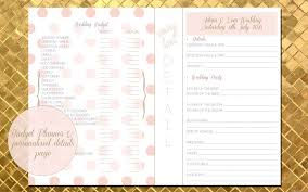 Wedding Planner Book Your Very Own Personalised Wedding Planner E Book Lemon Pie