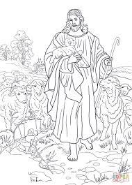 jesus good shepherd coloring free printable coloring