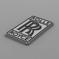 rolls royce logo drawing emblem 3d rolls royce logo cgtrader
