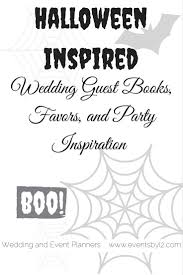 halloween inspired wedding guest books favors and party inspiration