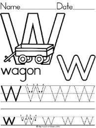 alphabet letter w wagon standard block manuscript handwriting