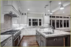 granite countertop hickory wood kitchen cabinets marble