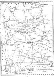 Map Of Alabama Cities P Fmsig 1948 U S Railroad Atlas