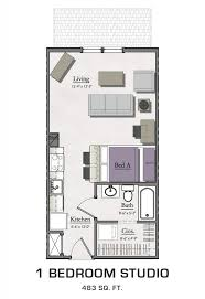 one bedroom floor plan floor plans for msu students student housing in east lansing