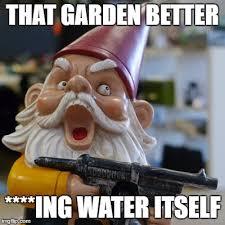 Gnome Meme - angry gardener imgflip