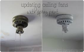 spray paint ceiling fan cheap fixes spray paint edition space for living organizing san