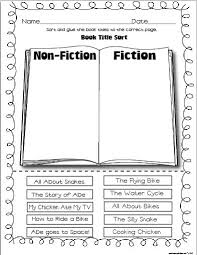 fiction and nonfiction worksheets worksheets
