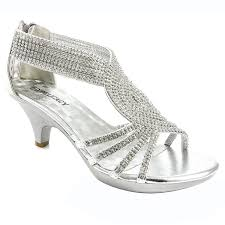 wedding shoes low heel silver v luxury womens open toe med heel wedding sandal