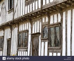 English Tudor by Old English Timber Framed Tudor House In The Village Stoke By