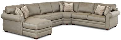 Sofa With Ottoman Chaise by Klaussner Clanton Transitional Sectional Sofa With Left Chaise