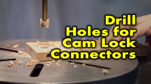 how to drill holes for cam lock connectors youtube
