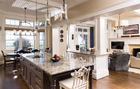 Kitchen Family Room Designs Opening Up Kitchen To Dining Room