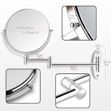 Two Sided Vanity Mirror Miusco 7x Magnifying Two Sided Vanity Makeup Mirror Wall Mount