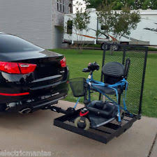Power Chair With Tracks Hitch Mount Wheelchair Carrier Ebay