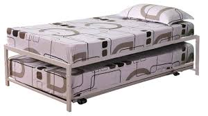 39 u0027 u0027 twin size metal high riser bed frame with pop up trundle